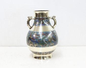Large Japanese Champ Leve Vase