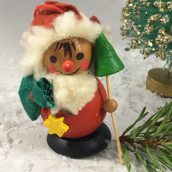 Santa Claus vintage Steinbach wooden Christmas ornament