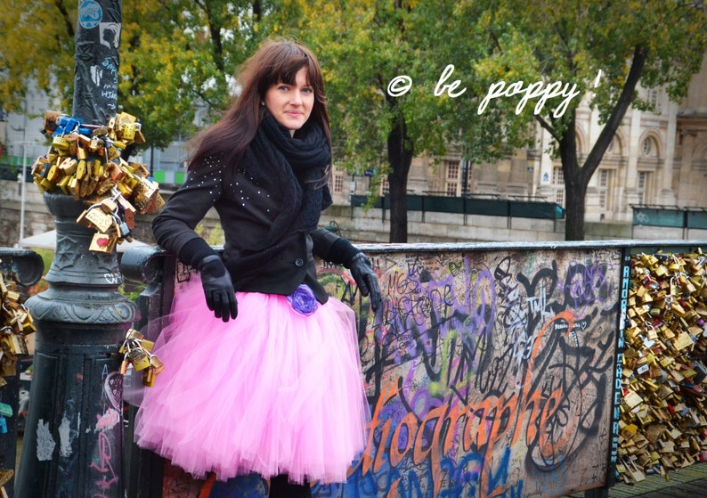 SHORT PINK TUTU skirt  Tea lenght Candy Pink Tulle Skirt  8 image 0