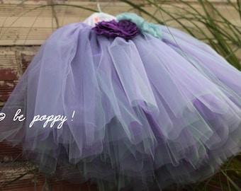 Bi-color UNICORN TUTU tutu skirt 8 layers sewn tutu -Custom made tulle skirt -mint and violet tulle skirt -girl's tulle skirt -balerina tutu