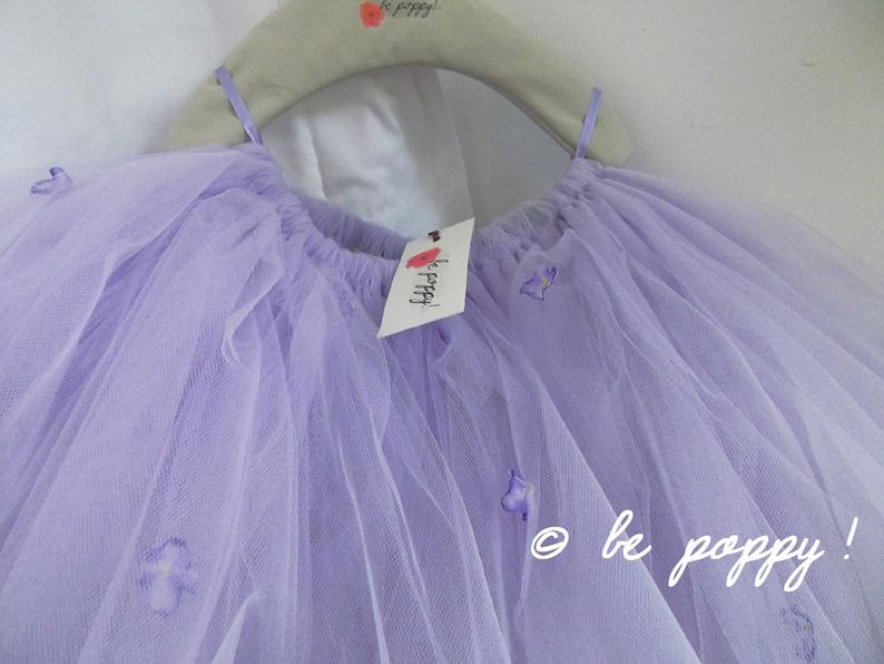Short to Tea Length LAVENDER Violet Lilac FLOWER TUTU skirt 8 image 0