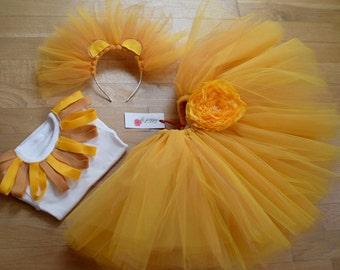 TUTU skirt for LION's COSTUME - Mardi gras lion costume -halloween lion costume - mardi gras lion - Eastern chick costume -custom made skirt