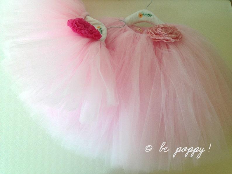 SHORT PINK TUTU skirt  Tea lenght Soft Pink tulle skirt  8 image 0