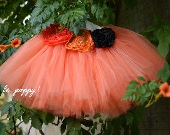 TUTU skirt for PUMPKIN COSTUME - Mardi gras tigre costume - halloween pumpkin costume - custom made costume orange - ballerina tulle skirt