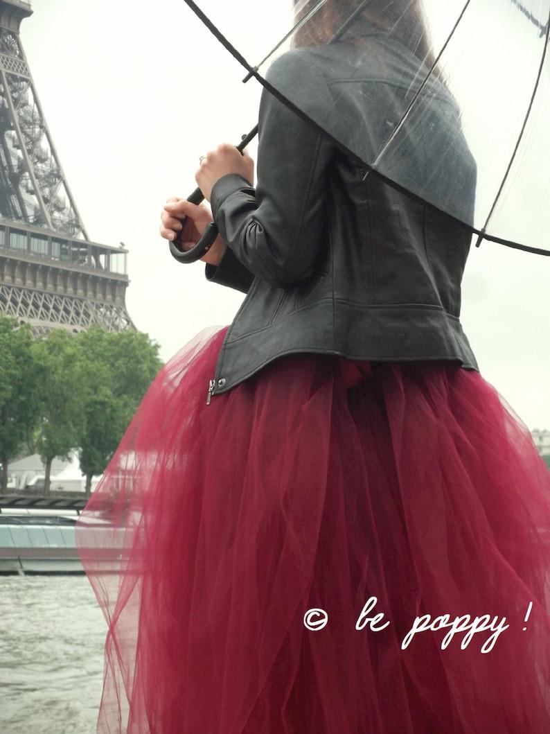 Robe mariée rock tulle bordeaux Be poppy