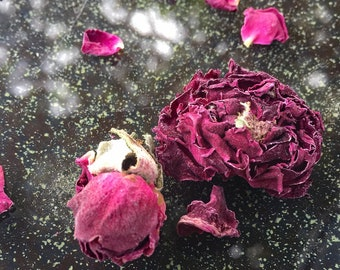 3 lb. Organic Rose Buds & Petals • Deep Red Roses • Dry Rose Buds • Wedding Flower toss • Biodegradable • Potpourri  • Herbal Air Freshner