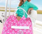 Monogram Anchor Beach Bag and Matching Cooler