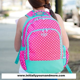 Monogram Backpack DOTTIE print (Monogram included!) Matching lunch tote and more available too