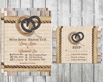 Horse Wedding Invitations Etsy