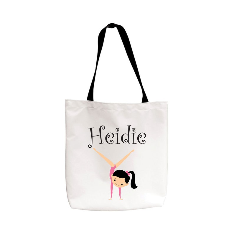Grocery Tote gift Personalized Gymnastics Canvas Tote Bag gym bag Reusable Tote funny tote,baby bag tote Carry all bag Kids Tote
