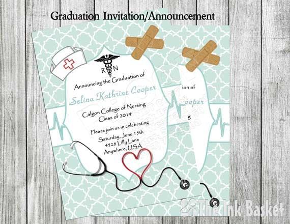 Nursing Graduation Invitation Pinning Ceremony Invitation Etsy
