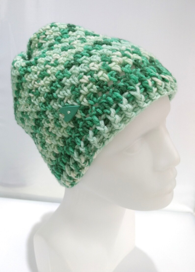 c3c12776ff5 Crochet Hat Winter Hat Green Mix Color Wool Yarn Gift