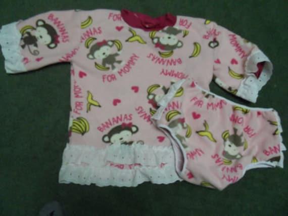 Adult Baby-Shirt und Windel Abdeckung. Vlies-Affe mit Spitze | Etsy