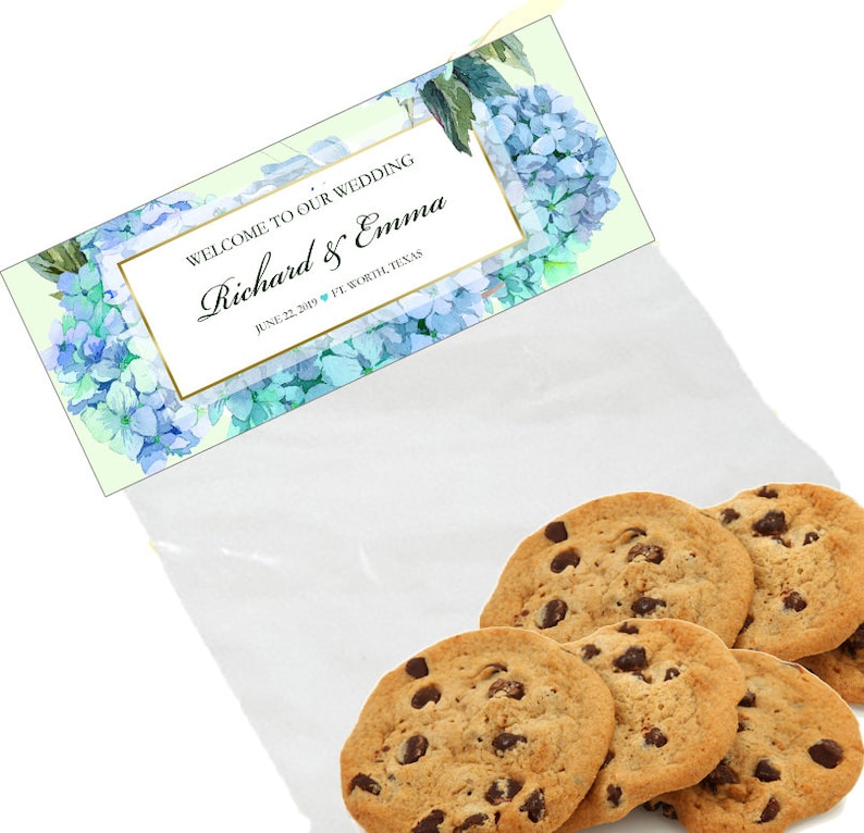 20 Hydrangea Bag Toppers Goody Bag Labels Wedding Favor Etsy