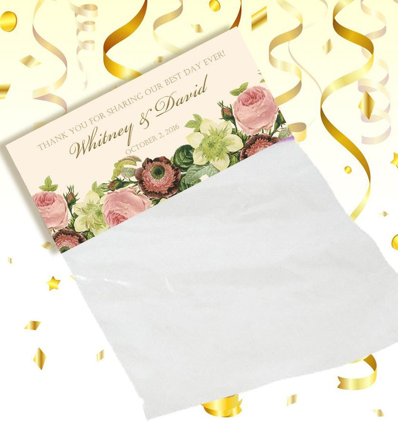 Blush Floral on sturdy Kraft bags hotel guest gift bags 10 Wedding Welcome Bags party favor goody bags Event attendee gift bag