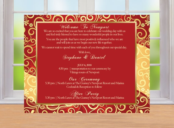 20 Indian Wedding Stationary Hindi Wedding Welcome Note Wedding Itinerary Ceremony Program Reception Menu Invitation Flex Colors