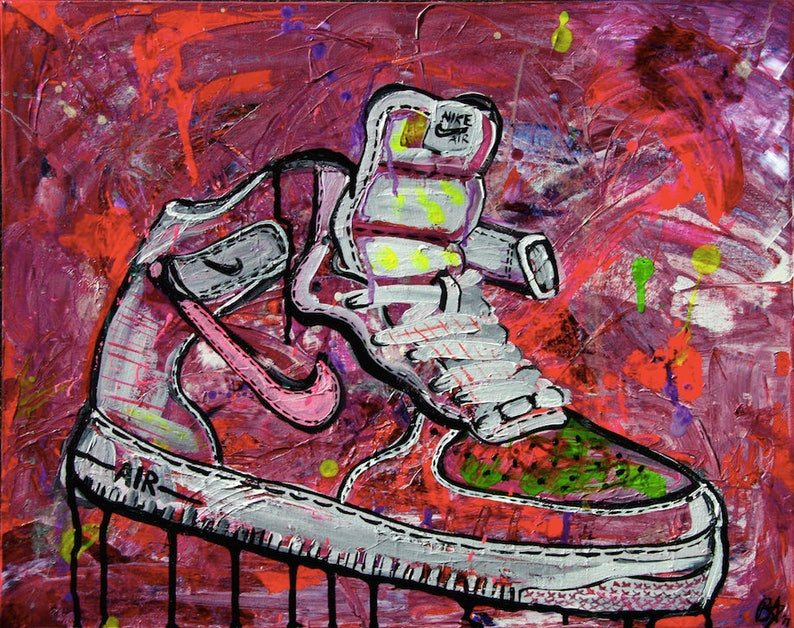 best service eccdf e0432 Original AIR FORCE 1 Street Sneaker Art Print.   Etsy