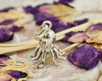 1pcs Ancient silver octopus Paul Emperor  Charms Pendant necklace initial necklace sisters best friend necklaces Mother/'s Day necklace