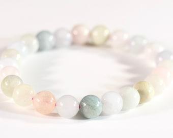 Natural Hematite Stretchy Bracelet  Elastic Bracelets  Stone Jewelry  Village Silversmith