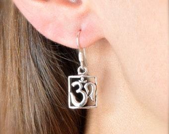 13c7993ce Om Earrings // Sterling Silver Earrings // Sterling Silver // Village  Silversmith