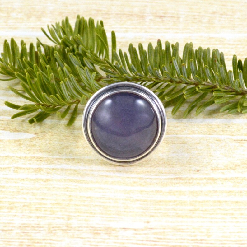 Purple Moon Chalcedony Ring  Chalcedony Jewelry  Sterling Silver  Village Silversmith