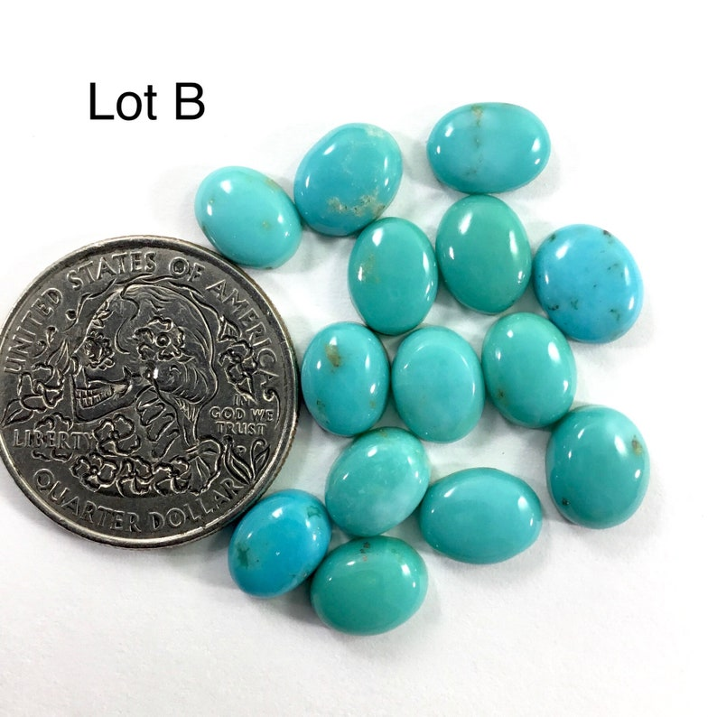 7x9mm Oval Turquoise Cabochon Lots  Calibrated Turquoise  Gems  Cabochons  Jewelry Making Supplies  Village Silversmith