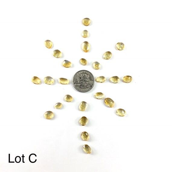 Rose Citrine Cut Citrine Rose beaucoup / / facettes Citrine / / gemmes / / Cabochons / / fournitures de fabrication de bijoux / orfèvrerie Village d2d17b