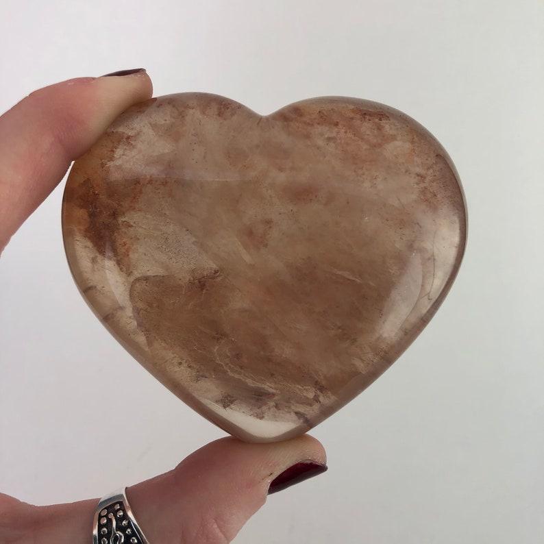 Hematoid Quartz Heart  Hematoid Quartz  Hematite  Metaphysical Stone  Mineral Specimen  Village Silversmith