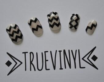 vinyl nail template etsy