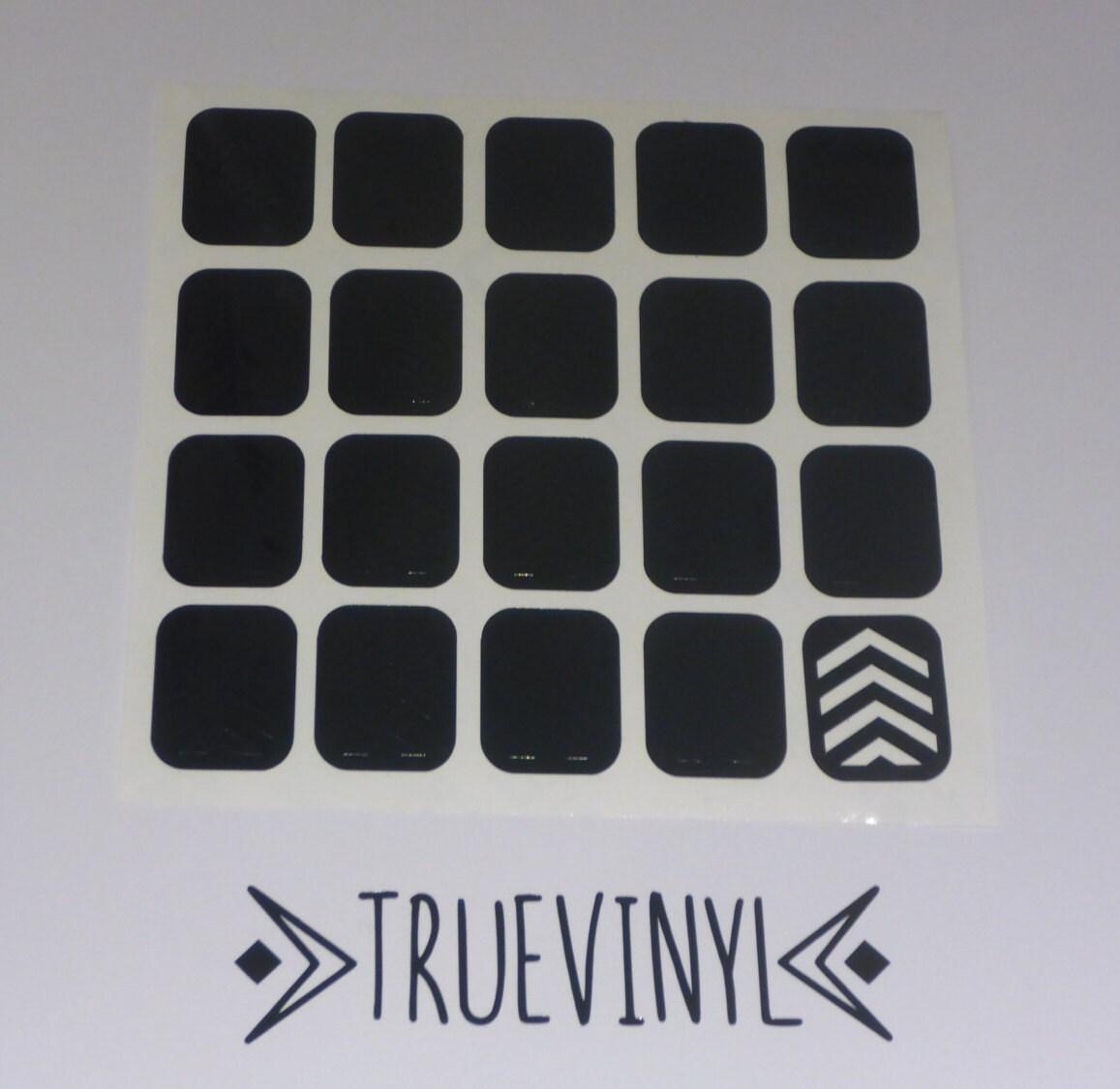 Nail Art Supplies New Zealand: Thick Chevron Vinyl Nail Decals / Sticker Pack Of 20 Nail