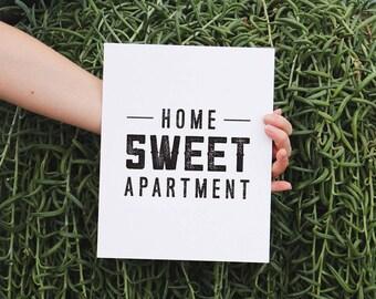 Apartment Decor, Home Sweet Apartment, Apartment Art Print, Gallery Wall Prints, New Apartment Gift, Housewarming Gift, Home Decor