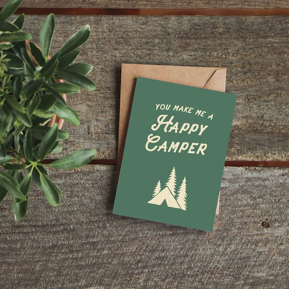 Funny Birthday Card Camping Sign Funny Anniversary Card Etsy