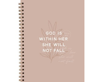 God is Within Her She Will Not Fall Blush Journal