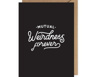 Anniversary Card, Funny Love Card, Funny Card Husband, Anniversary Gift, Card for Her, Funny Valentine Card, Mutual Weirdness Card