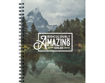 Lined Notebook, Goal Planner, Writing Journal, Gift for Her, Spiral Notebook, Back to School, New Job Gift, Ridiculously Amazing Ideas