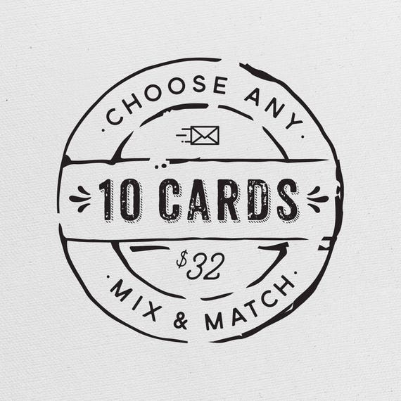 Choose Any 10 Greeting Cards Bulk Wedding Card Funny