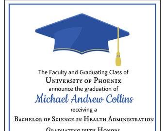 Graduation envelopes etsy more colors 100 graduation invitations filmwisefo