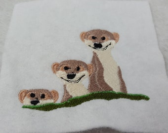Embroidery file meerkat, file for embroidery machine, machine embroidery for appliqué,