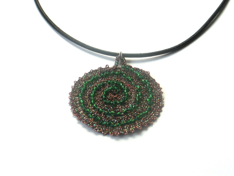 leather necklace with pendant image 0