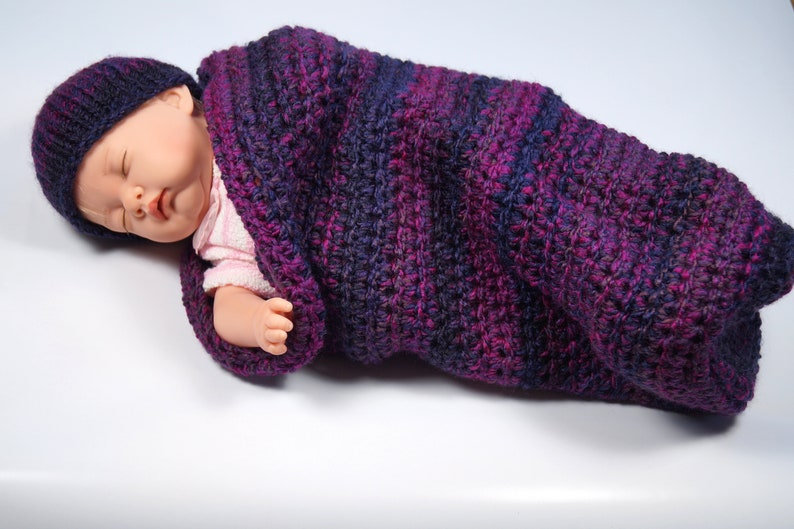 Baby Cocoon for photography outfit wine-red Pucksack as a baby gift,