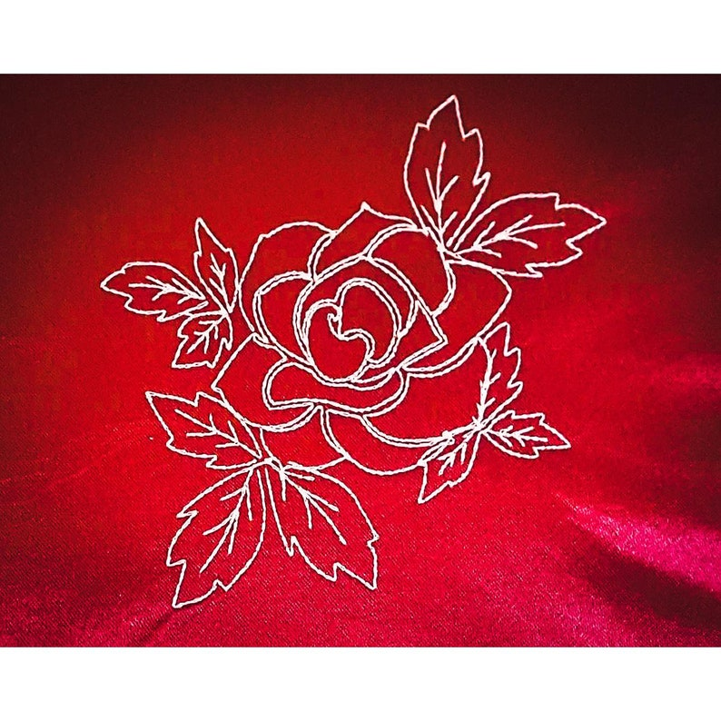 embroidery file rose rose to embroider with machine rose image 0