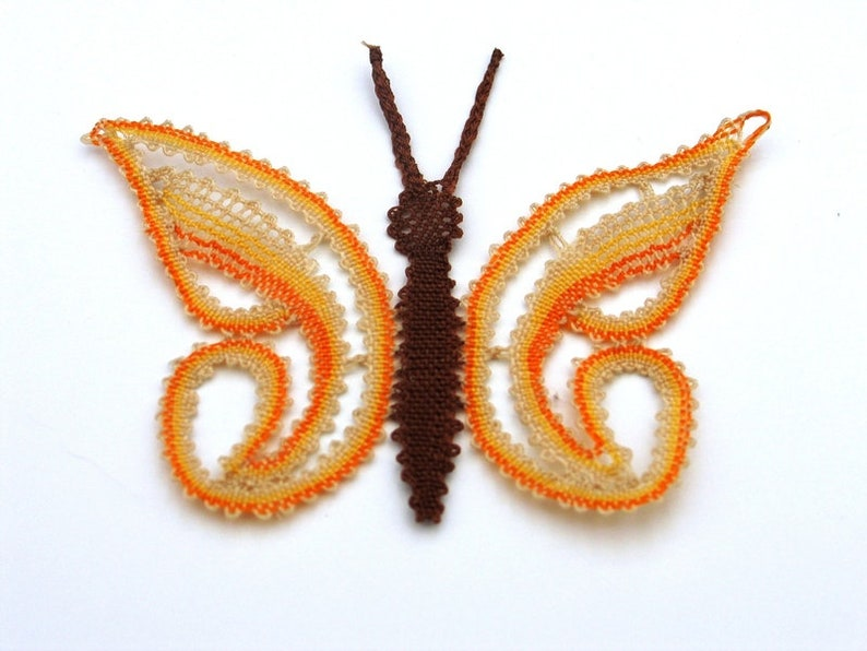 Lace application butterfly made of lace lace hand-made image 0
