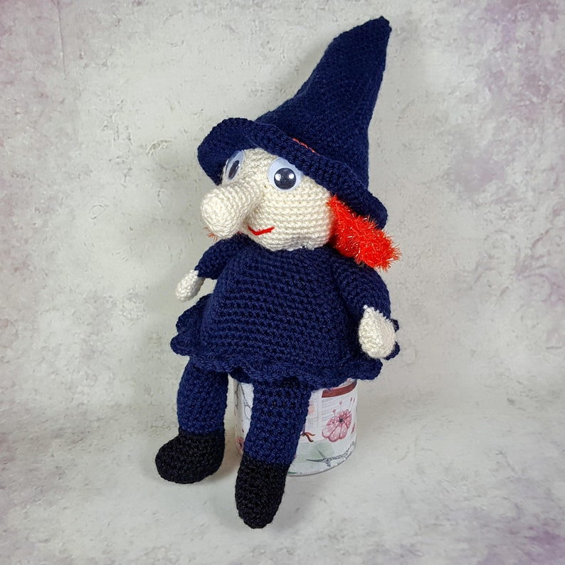 Crochet instructions for a witch as PDF crochet Amigurumi image 0