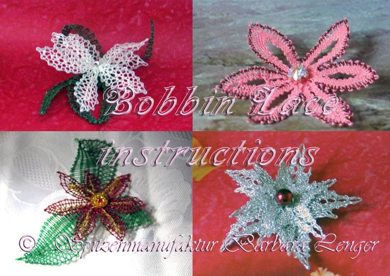 Klöppelbrief für kleine Ansteckblumen als PDF image 0