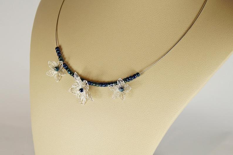Romantic wedding necklace with something blue image 0