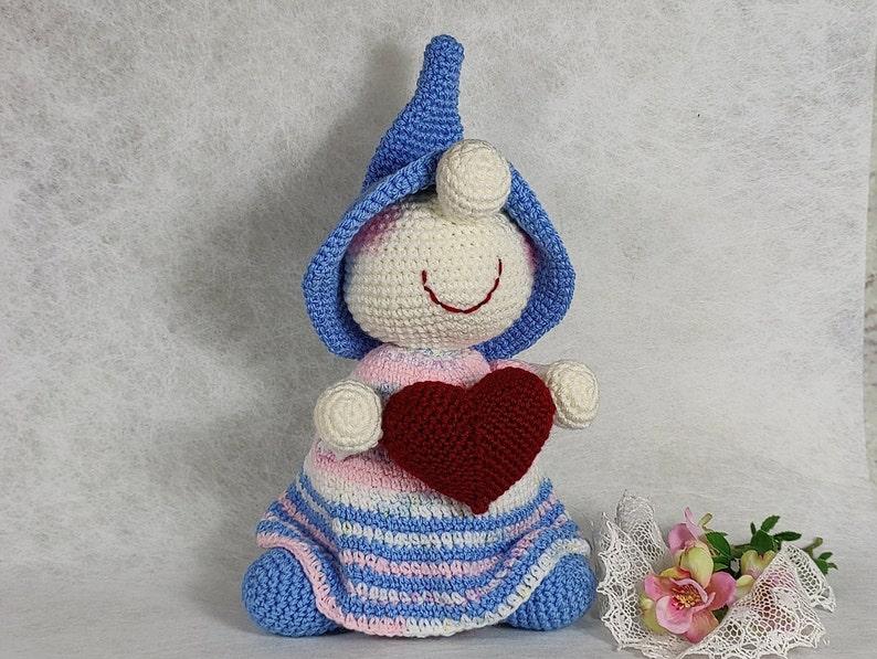 Valentine's Day gnome amigurumi gnome crocheted  image 0