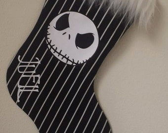 Skellington Holiday Stocking