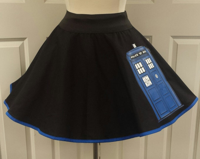 COMMISSION: Police Box Skirt (Assorted Colors Available)