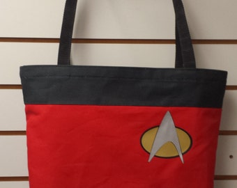 Red Shirt Cosplay Reusable Tote/ Shopping Bag