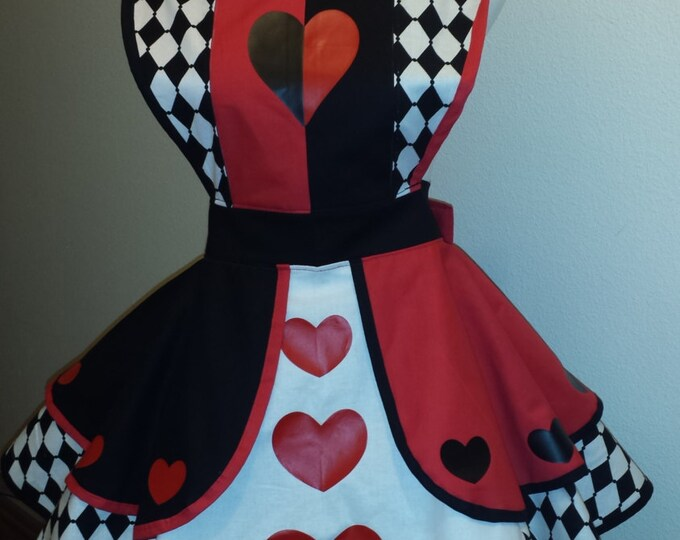 COMMISSION: Queen of Hearts 2 Fandom Cosplay Retro Pin Up Apron